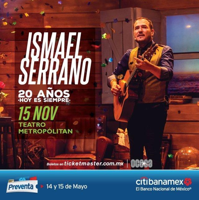 """Ismael Serrano vuelve a Ciudad de México con su show """"20 Años. Hoy Es Siempre"""""""