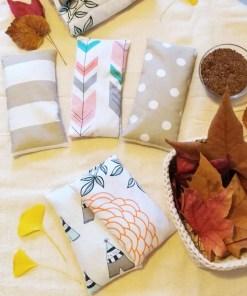 almohadillas térmicas de semillas
