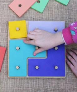 tetris de madera encastrable juguete para chicos