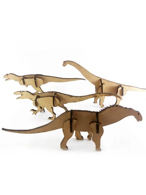 dinosaurios de la patagonia encastrables para armar y pintar en comunidad verde
