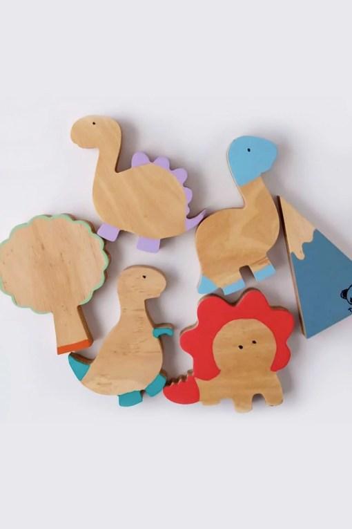 figuras de dinosaurios en madera para chicos