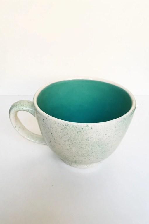 tazón gigante de cerámica esmaltado