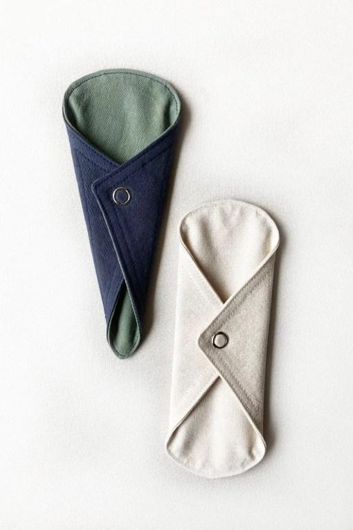 protectores diarios de tela, normal o tanga, en comunidad verde