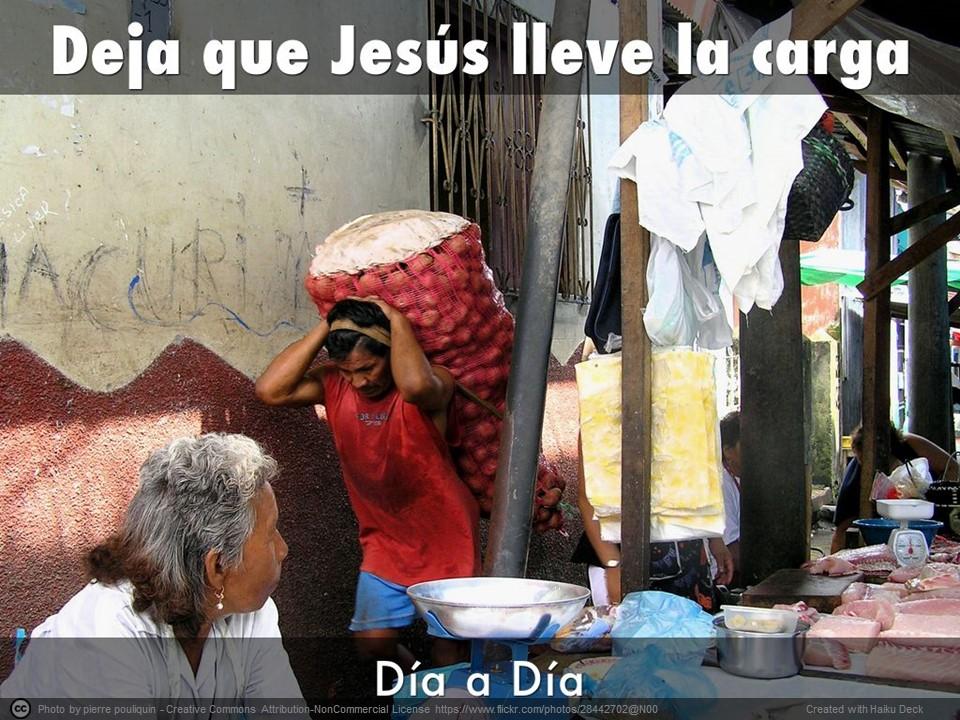 Deja que Jesús lleve la carga