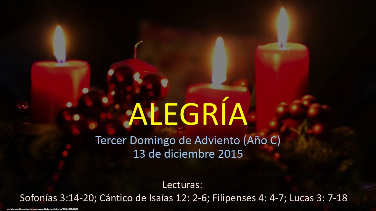 Tercer domingo de adviento año c