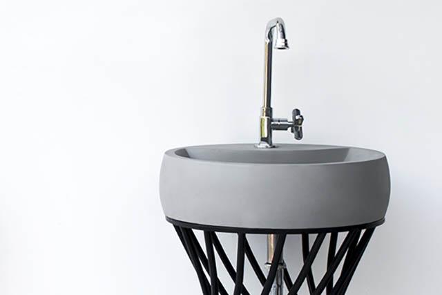 collection of modern design concrete basins