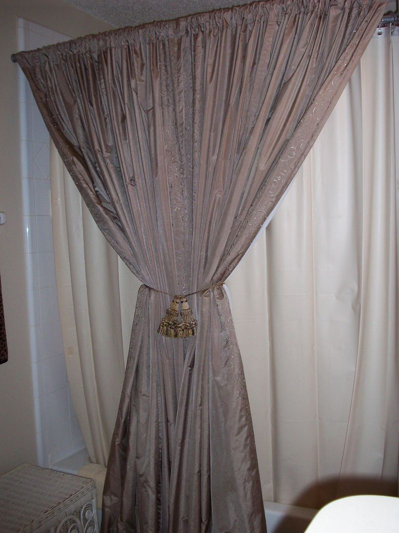 small house design shower curtains with tie backs