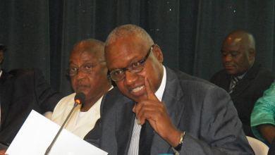 Me Cheick SAKO ministre d'État ministre de la Justice garde des sceaux.