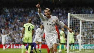 Gareth Bale jubile après la qualification du Real Madrid pour la finale. (Reuters)