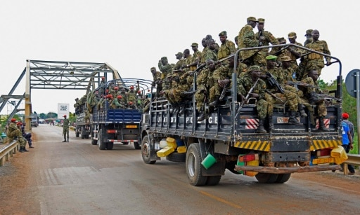 Un convoi militaire ougandais