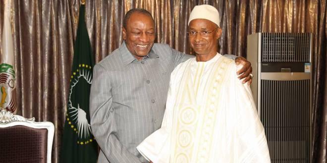 Cellou Dalein Diallo et le Président Alpha Condé