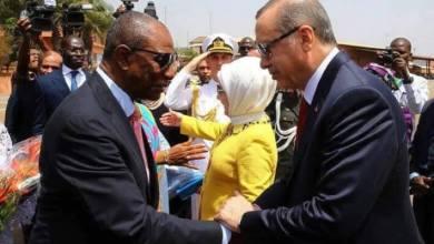 le Président turc, Recep Tayyip Erdogan et le chef de l'Etat guinéen Alpha Condé