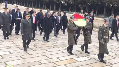 Alpha condé au mausolée érigé en l'honneur Atatürk
