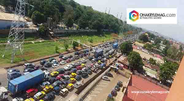 embouteillage à Conakry