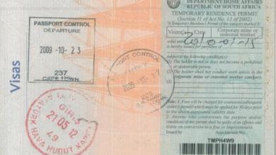 visa afrique du sud