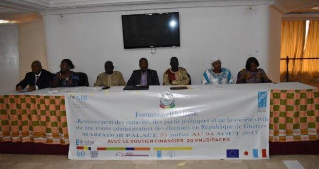 renforcement des capacités des partis politiques et des organisations de la société civile pour une bonne administration des élections en Guinée