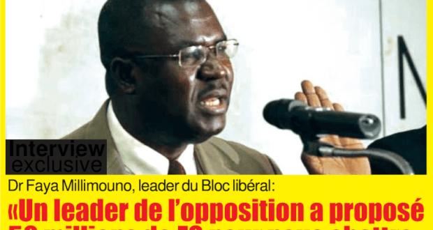 Faya Millimono Président du Bloc Libéral