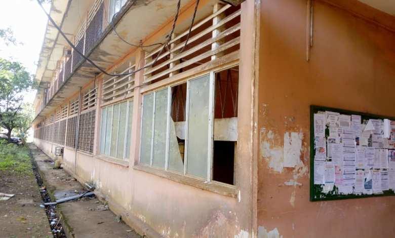 le visage désolant qu'offre l'université Gamal Abdel Nasser de Conakry