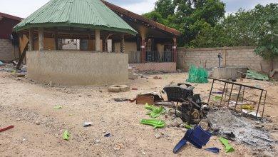 Maison de l'imam Mohamed N'Faly Camara incendiée
