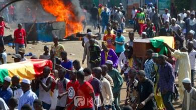 enterrement de manifestants guinéens