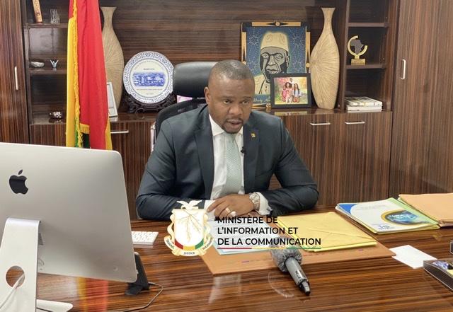 Amara Somparé Ministre de l'Information et de la Communication