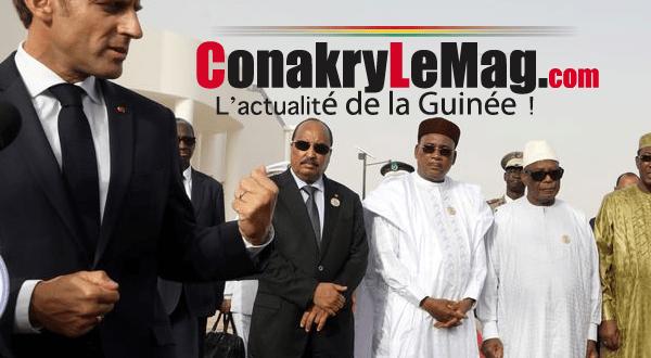 Emmanuel Macron et les chefs d'Etats de l'Union Africaine