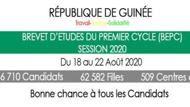 Le brevet d'études du premier cycle (BEPC) session 2020 démarre ce mardi sur toute l'étendue du territoire Guinéen.