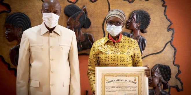 Fatou Diallo NDiaye et Alpha Condé