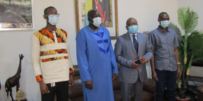 le Ministre d' Etat, Mohamed Oyé GUILAVOGUI