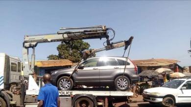 enlevement d'un vehicule par la routière de Conakry
