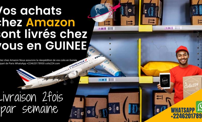 Vos achats chez Amazon sont livrés en Guinée depuis la France.