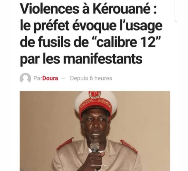 Le préfet de kérouané