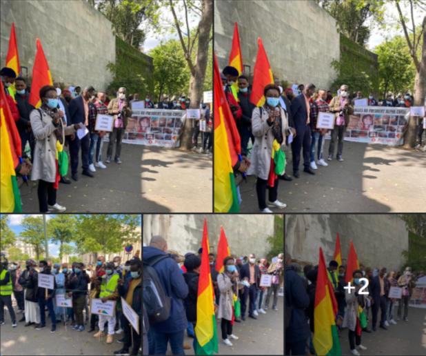 Manifestation de guinéens de France contre la dictature Condé