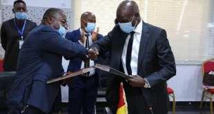 Signature du projet d'accord de Gestion des ressources naturelles, minières et de l'environnement.