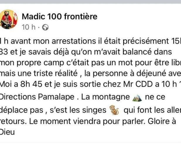 Madic 100 (sans) frontières avait oublié qu'il y'avait bel et bien une frontière à Pamelap.