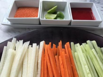 Jícamas, pepinos y zanahorias