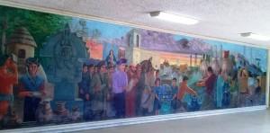 Rescataran-mural-que-está-en-el-vestíbulo-de-la--presidencia-municipal,-el-edificio-será-demolido