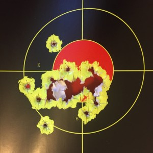 18 rounds rapid fire at 5 yards