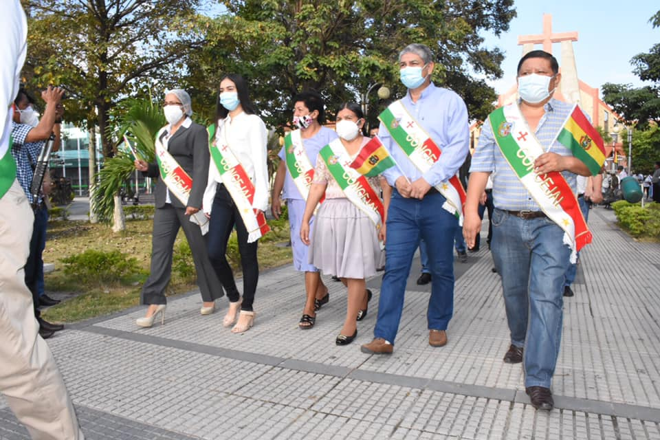 Montero rindió homenaje a la patria en su 195 años de independencia, hoy Estado Plurinacional de Bolivia.