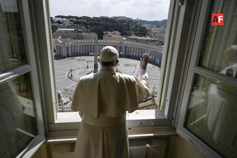 AFmedios Bendicion Papal Francisco en tiempos del COVID 19 - Bendición papal en tiempos del COVID-19 en el Vaticano