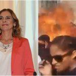 """Gutierrez Muller facebook - """"Así no"""", publica Gutiérrez Müller por marcha del #8M; Facebook lo elimina y ella acusa censura - #Noticias"""