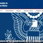 consulado EU - Suspende los servicios consulares de la representación de Estados Unidos en México por COVID-19