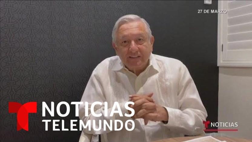 1586144814 maxresdefault - AMLO cambia de parecer y contradice sus propias recomendaciones   Noticias Telemundo