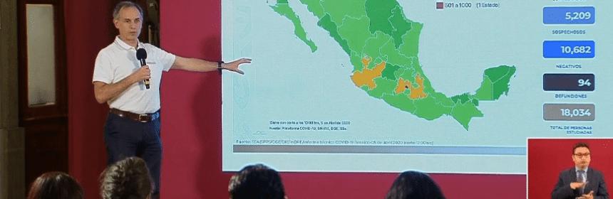Captura de pantalla 2020 04 05 a las 19.03.40 - Aumenta a 94 muertes y 2 mil 143 casos positivos de COVID-19 en México