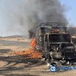 incendiaron camiones bloquearon - Incendian vehículos y bloquean carreteras en Michoacán