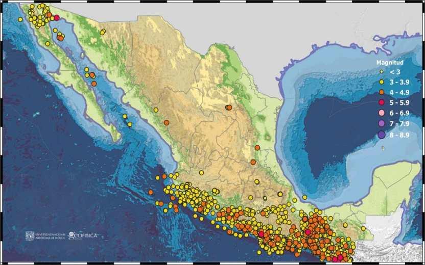 sismisidad marzo 2020 1024x640 - SSN reportó 2 mil 257 sismos en el mes de marzo