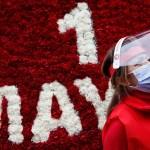 1 mayo pandemia coronavirus marchas trabajadores - FOTOGALERÍA | El mundo vive un atípico Día del Trabajo, con desempleo, miedo y pocas manifestaciones
