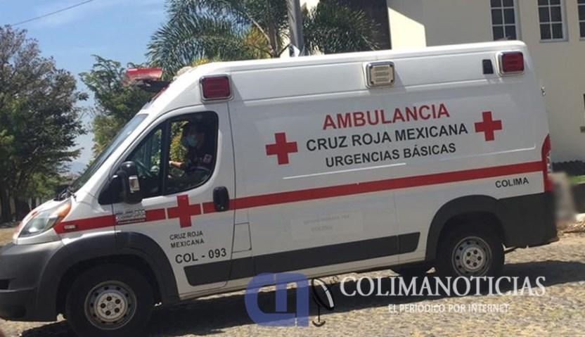 ambulancia cruz roja Colima - Hombre fue agredido a balazos en la colonia Rancho Blanco
