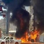 incendio contenedor 3 - Se incendia montacargas en recinto fiscal de Mzllo; solo hubo daños materiales