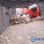 """limpiando rejillas y bocatormentas - Felipe Cruz invita a no tirar basura en calle; """"hemos limpiado rejillas en un 95%"""""""